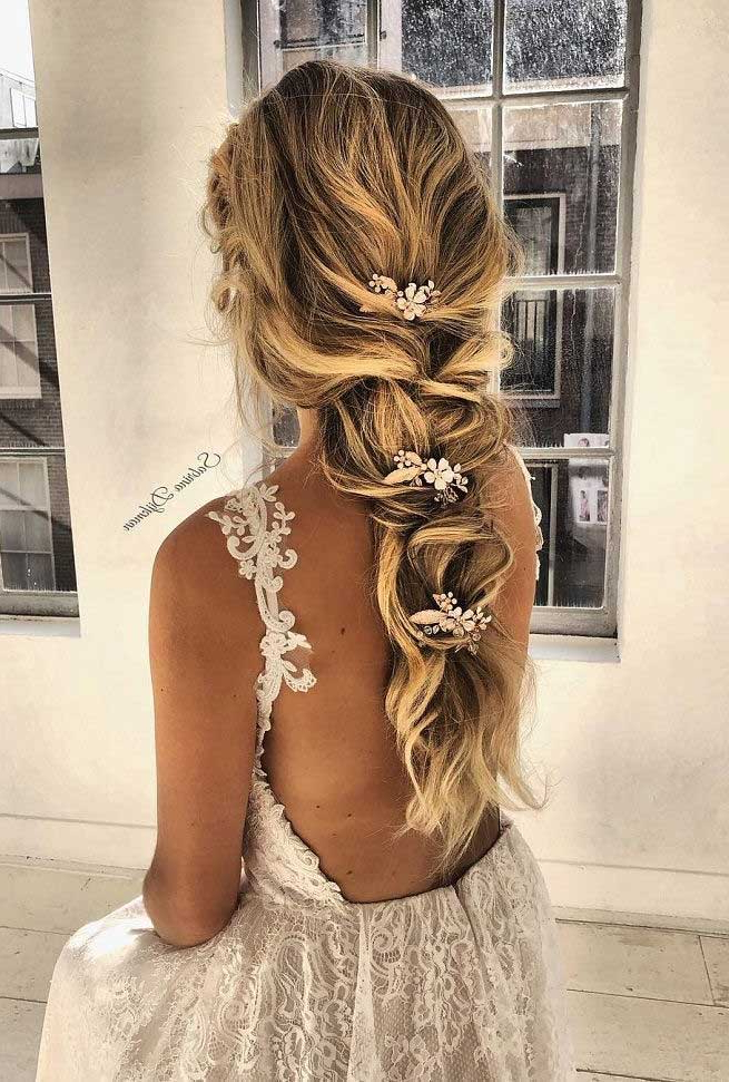 101 Gorgeous Boho Wedding Hairstyles For A Romantic Boho Bride With Regard To Most Popular Boho Braided Half Do Hairstyles (View 8 of 20)