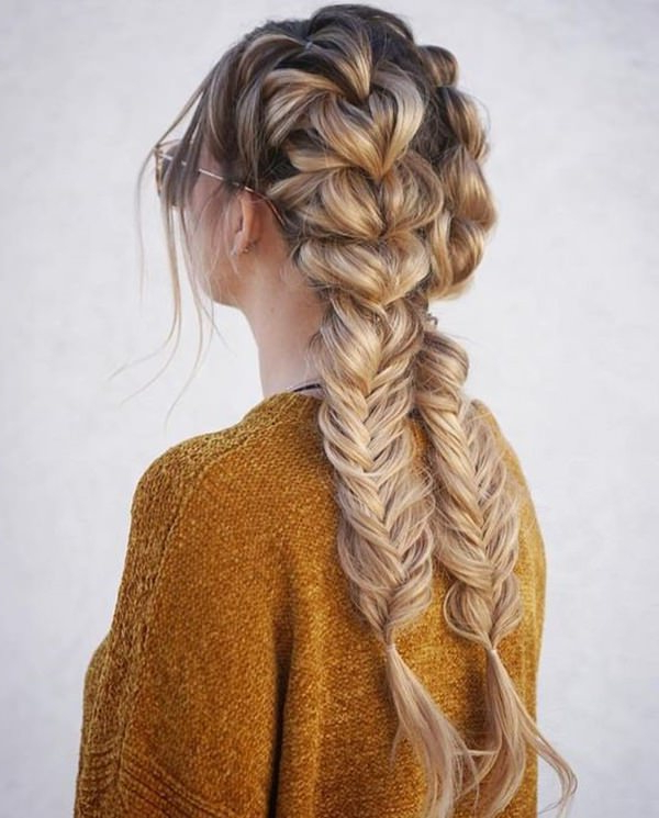 101 Of The Most Stylish Dutch Braids For 2019 For Popular Double Braided Single Fishtail Braid Hairstyles (View 15 of 20)