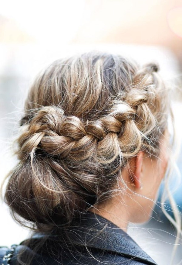 103 Messy Bun Hairstyles Pertaining To Most Up To Date Reverse Braided Buns Hairstyles (View 4 of 20)