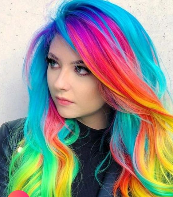 104 Pastel And Also Hidden Rainbow Hair Color Ideas – Easy For Favorite Pastel Rainbow Colored Curls Hairstyles (View 8 of 20)