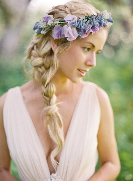 14 Braided Hairstyles——stylish Braids With Flowers Within Trendy Rolled Roses Braids Hairstyles (View 9 of 20)