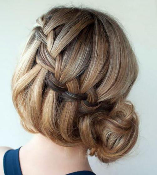 15 Cute Braided Bun Hairstyles With Regard To Latest Reverse Braided Buns Hairstyles (View 17 of 20)