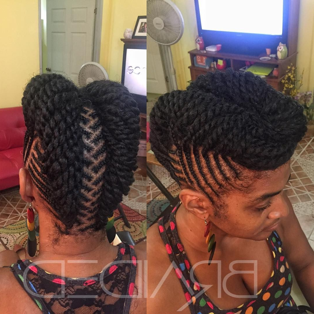 180+ Experience The Best With African Braids Hairstyles With Most Current Intricate Braided Updo Hairstyles (View 11 of 20)