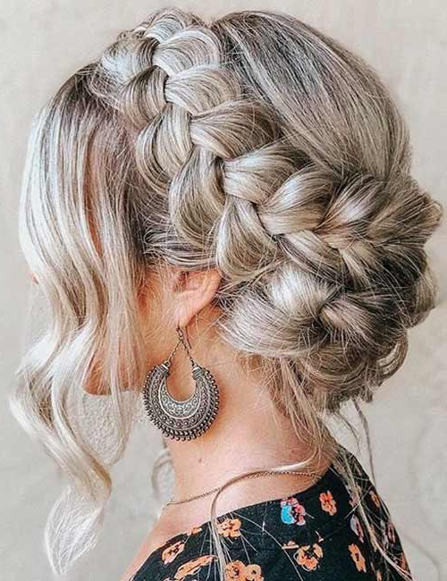 20 Beautiful Crown Braid Hairstyles For Recent Braided Crown Rose Hairstyles (View 4 of 20)