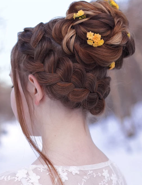 20 Beautiful Crown Braid Hairstyles Inside Current Braided Crown Rose Hairstyles (View 5 of 20)