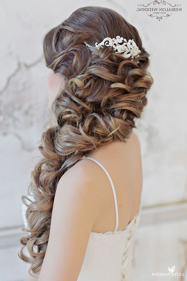 20 Creative Half Up Half Down Wedding Hairstyles – Page 4 Inside Most Recent Loose Highlighted Half Do Hairstyles (View 17 of 20)