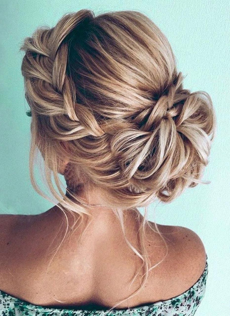 20 Easy And Perfect Updo Hairstyles For Weddings With Regard To 2019 Braid Tied Updo Hairstyles (View 9 of 20)