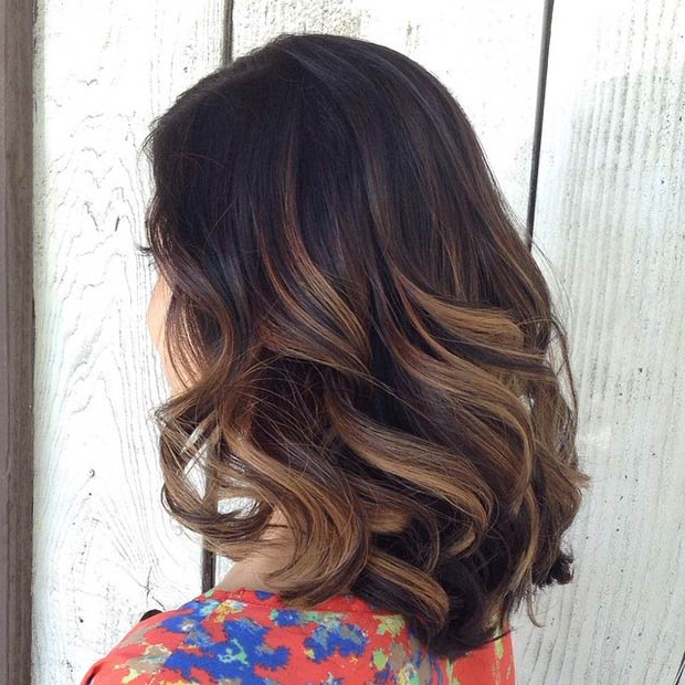 20 Hot Long Bob Haircuts And Hair Color Ideas, Part 1 Pertaining To Most Recently Released Natural Curls Hairstyles With Caramel Highlights (View 10 of 20)