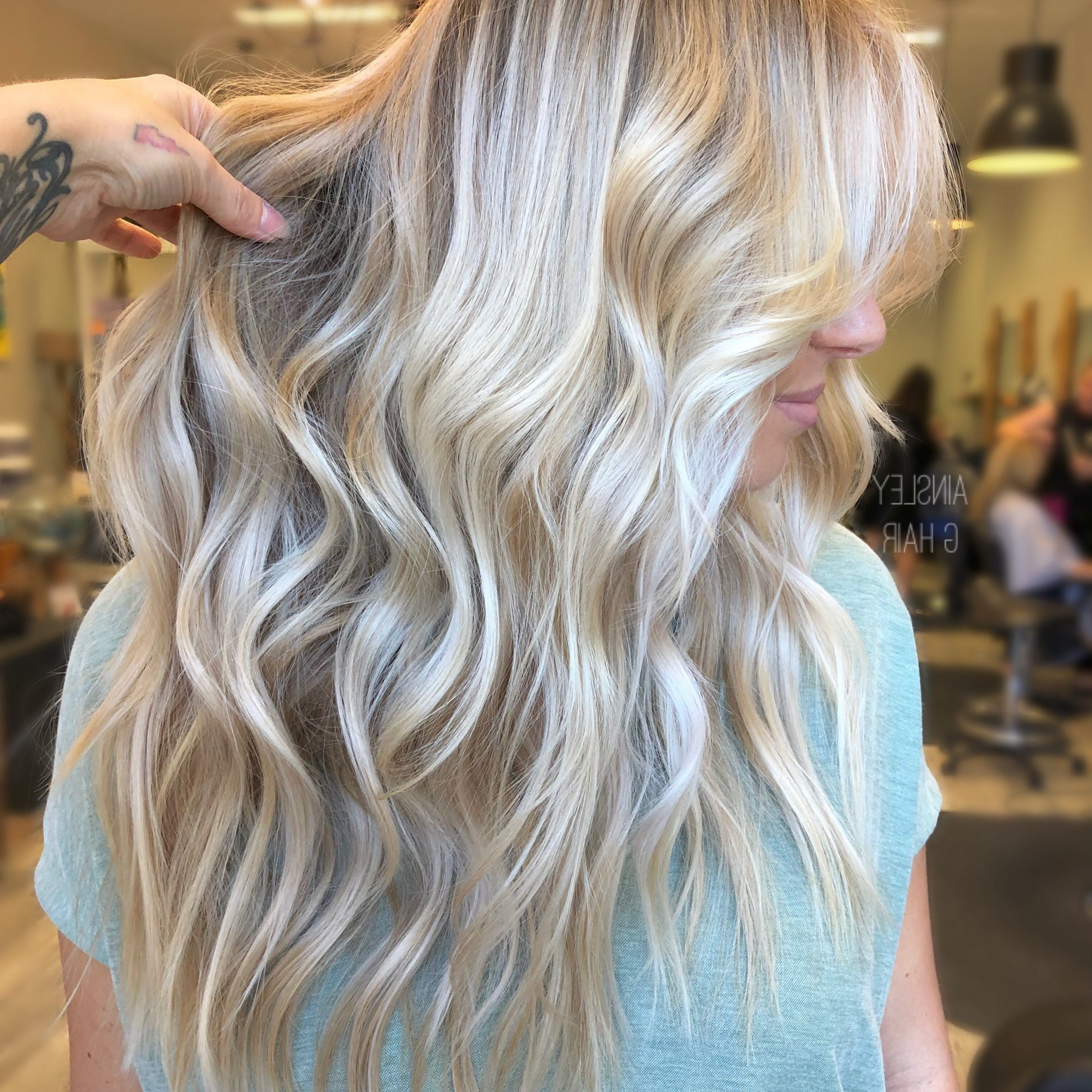 2017 Golden Blonde Balayage On Long Curls Hairstyles In Blonde, Blonde Hair, Balayage, Blonde Balayage, Undone (View 3 of 20)