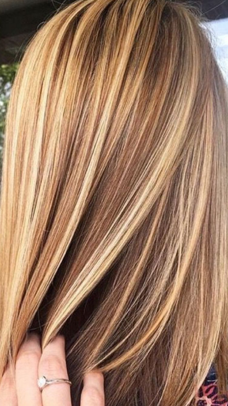 2017 Honey Kissed Highlights Curls Hairstyles In Less Blonde (View 10 of 20)