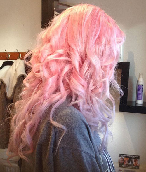 2017 Hot Pink Highlights On Gray Curls Hairstyles Intended For Top 50 Funky Hairstyles For Women (View 10 of 20)