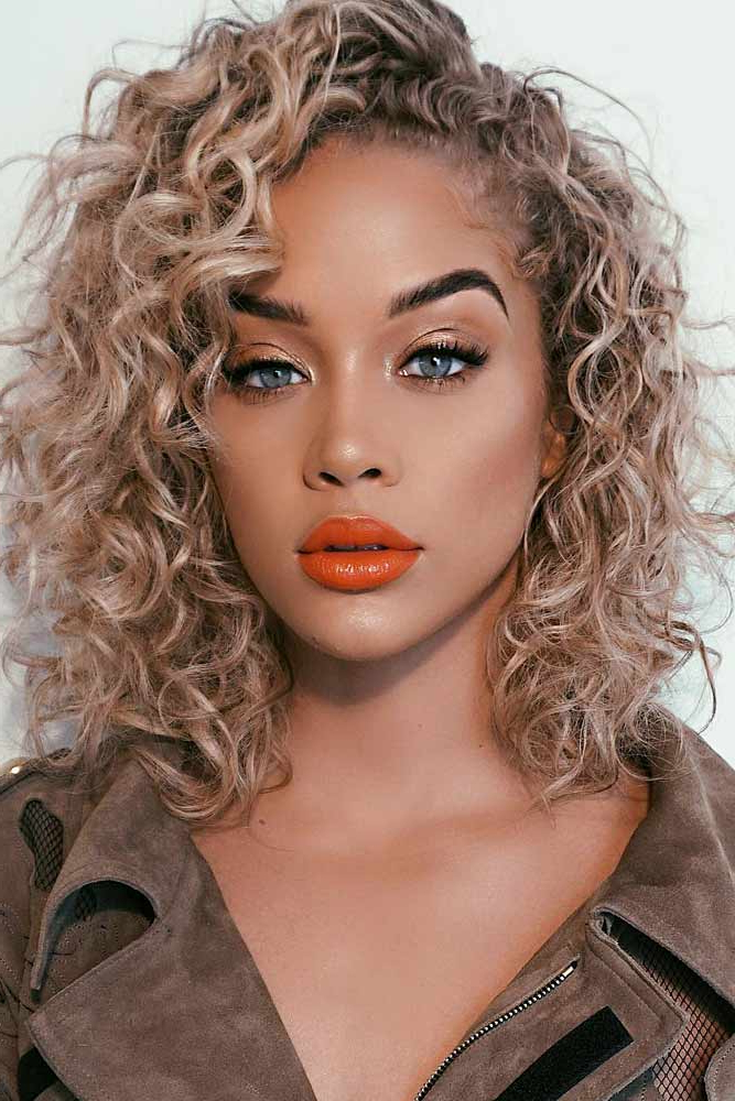 2017 Short Loose Curls Hairstyles With Subtle Ashy Highlights With 50 Hairstyles For Curly Hair For A Cute Look (View 2 of 20)