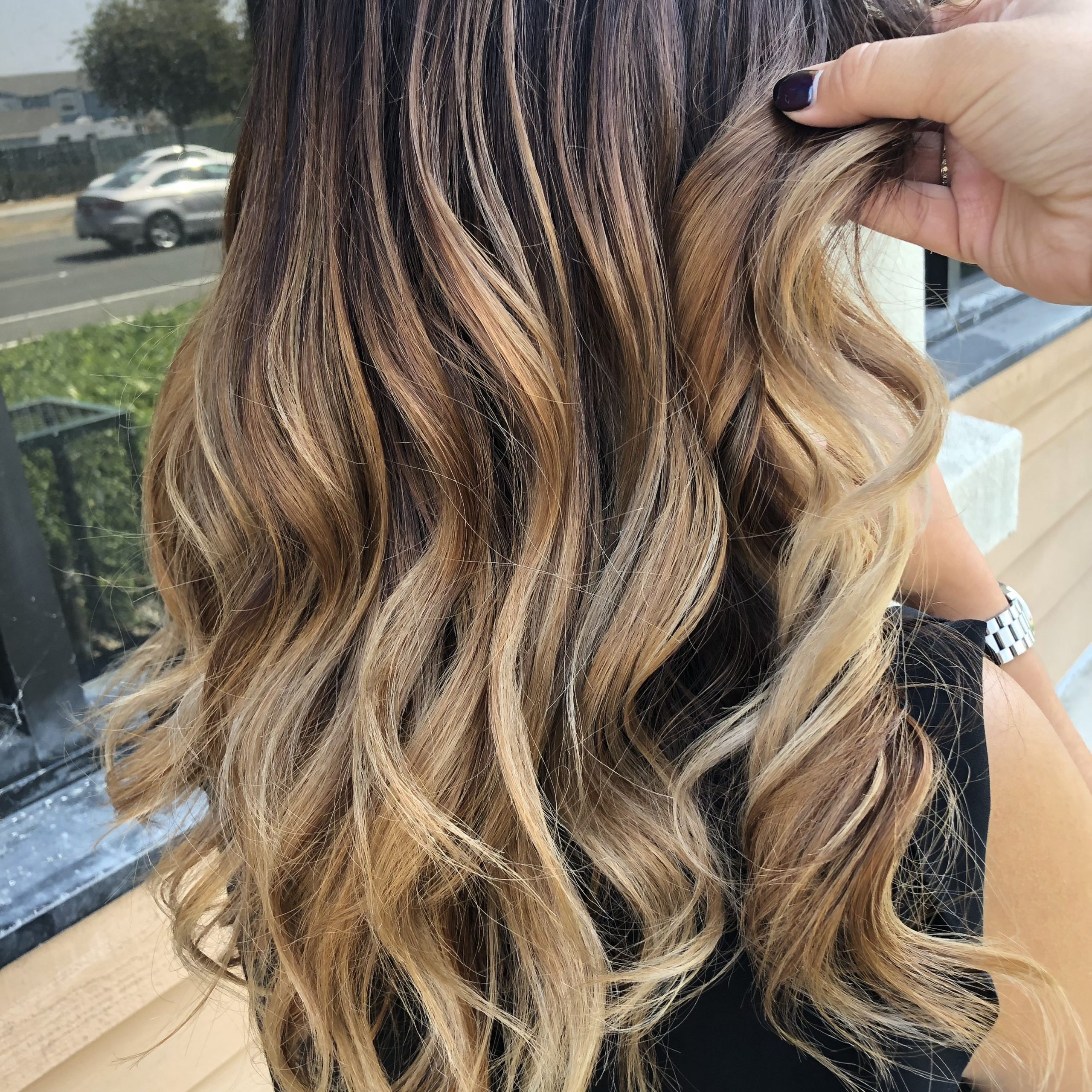 2018 Golden Blonde Balayage On Long Curls Hairstyles Intended For Golden Godess (View 8 of 20)