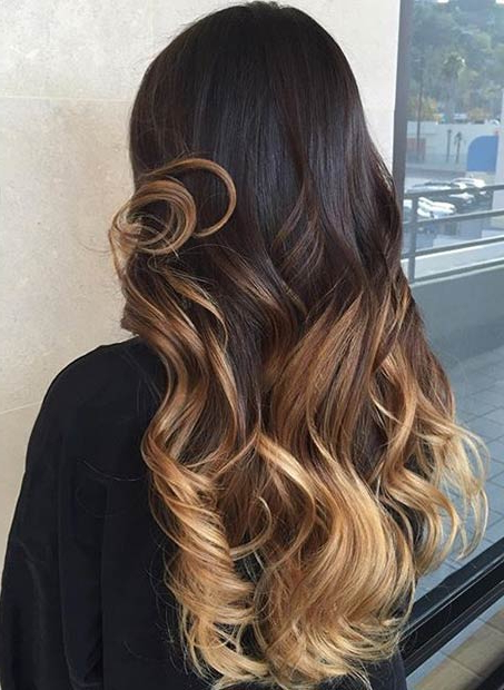 2018 Honey Kissed Highlights Curls Hairstyles For 31 Balayage Highlight Ideas To Copy Now (View 9 of 20)