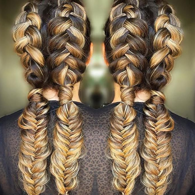 2019 Double Dutch Braids Hairstyles Inside 50 Trendy Double Braid Hairstyle Ideas To Keep You Cool (View 7 of 20)