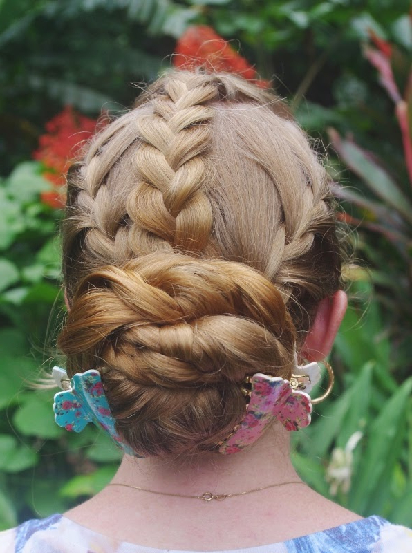 2019 Heart Braids Hairstyles With Braids & Hairstyles For Super Long Hair: Easy Heart Braid (View 3 of 20)