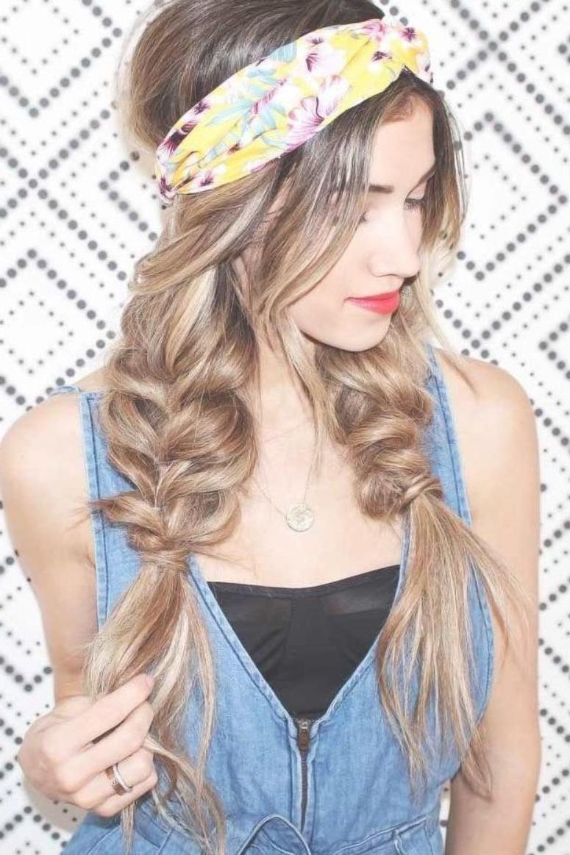 2019 Hippie Braid Headband Hairstyles In Double Pull Through Braids #braids With These Hippie (View 3 of 20)