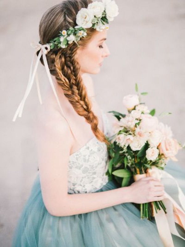 2020 Bridal Crown Braid Hairstyles In 20 Long Wedding Hairstyles With Beautiful Details That Wow (View 18 of 20)