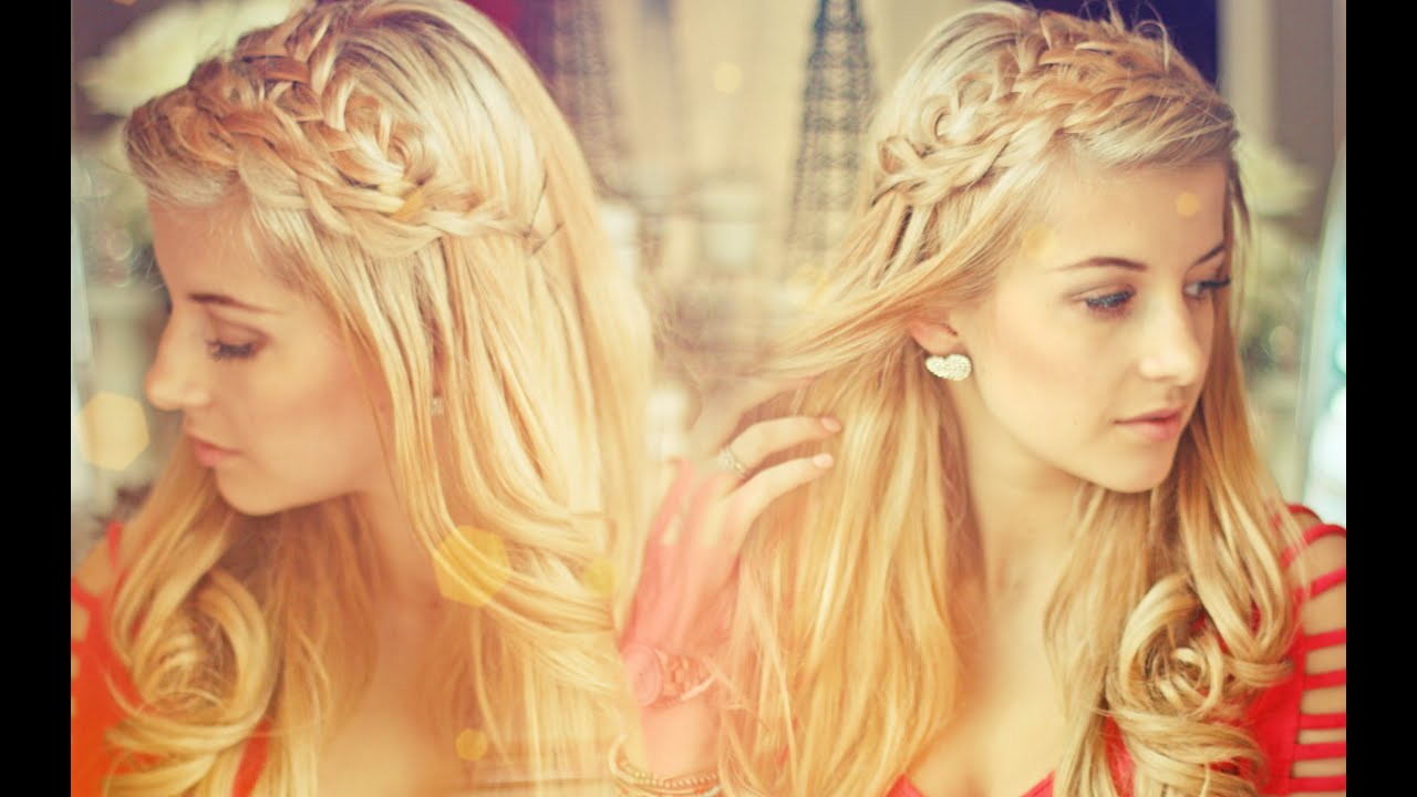 2020 Loose Double Braids Hairstyles Inside I'm Blonde! Double Loop Braids & Loose Curls Tutorial (View 10 of 20)