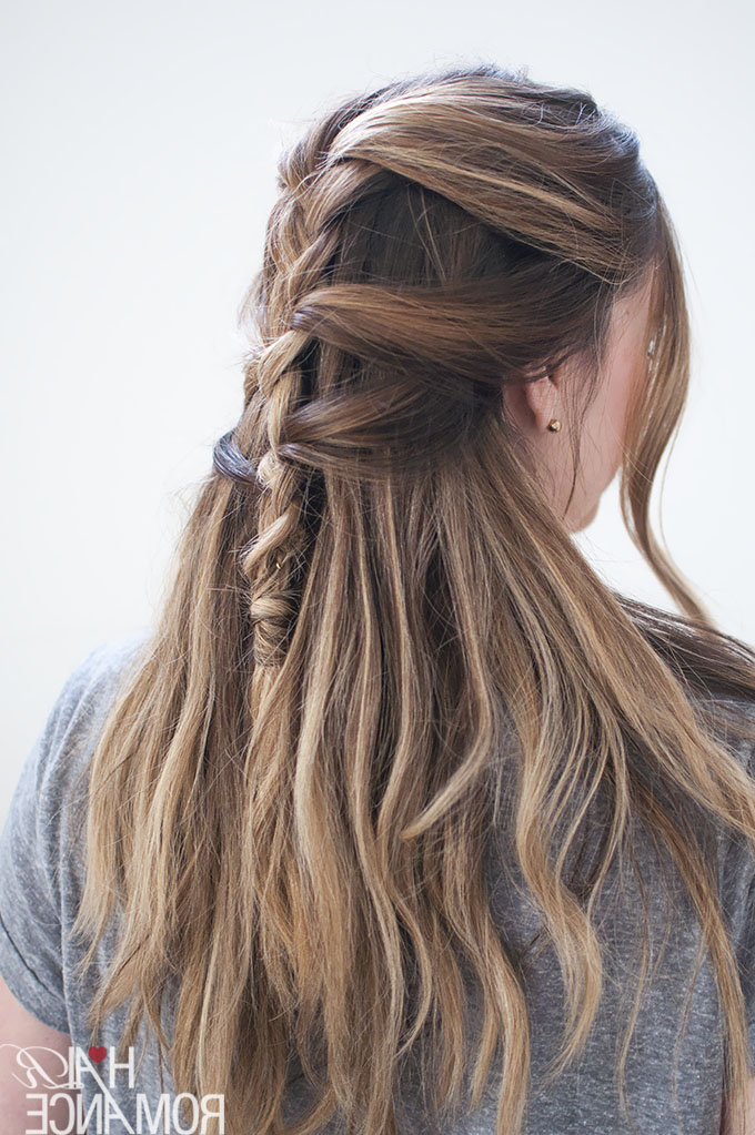 2020 Loose Historical Braid Hairstyles Within Loose French Braid Tutorial For Long Hair – Hair Romance (View 9 of 20)