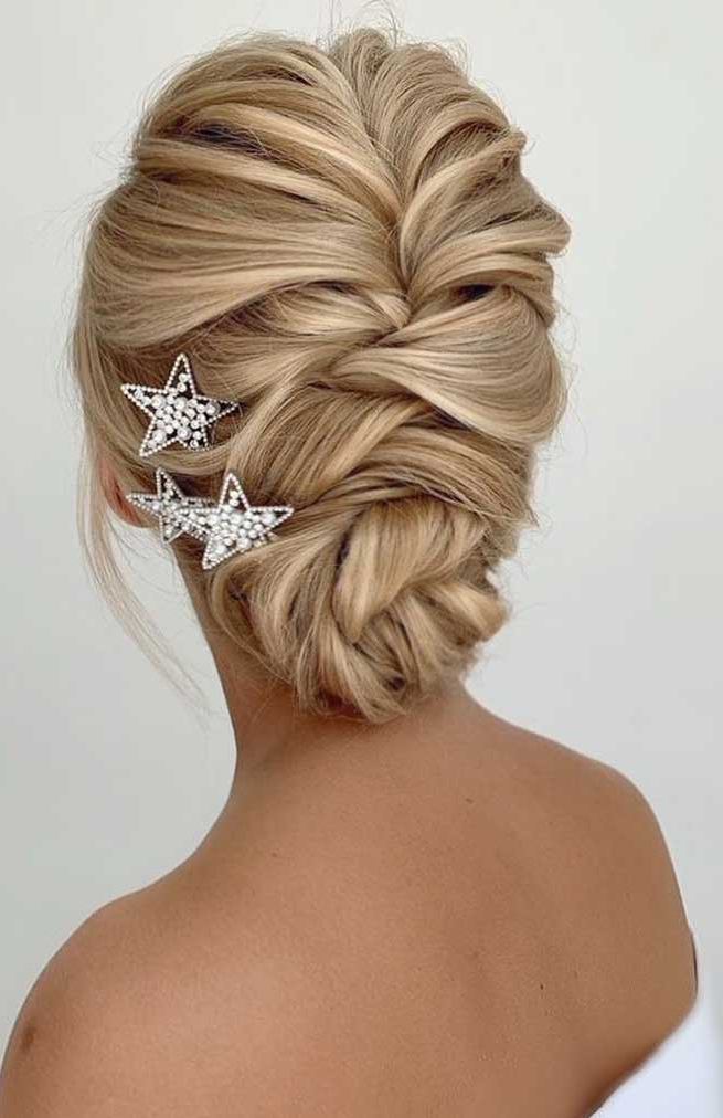 2020 Messy Elegant Braid Hairstyles Inside 100 Best Wedding Hairstyles Updo For Every Length (View 16 of 20)