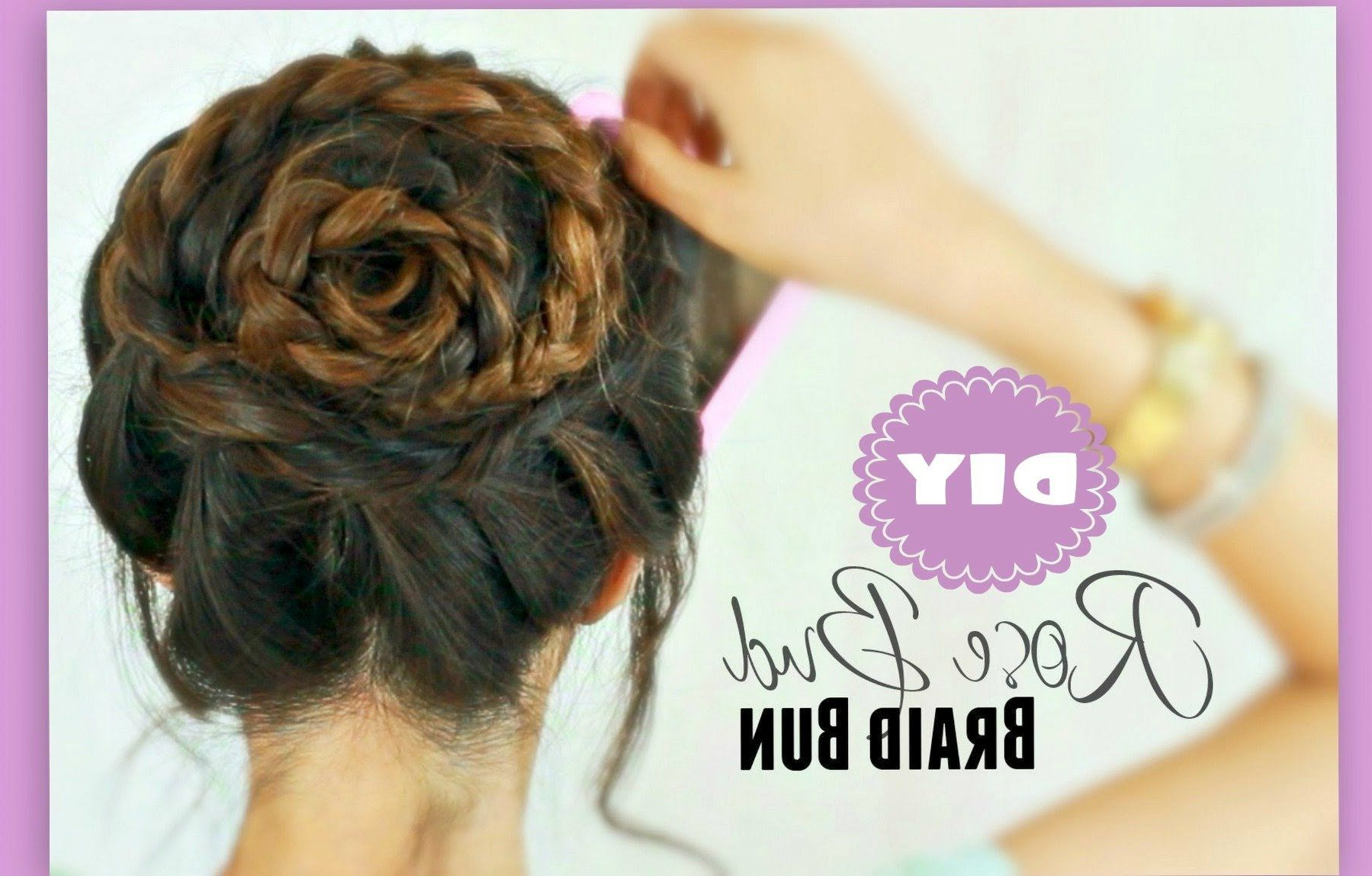 2020 Rolled Roses Braids Hairstyles Intended For Rose Bud Flower Braid Hairstyles Peinados & Updos For (View 8 of 20)