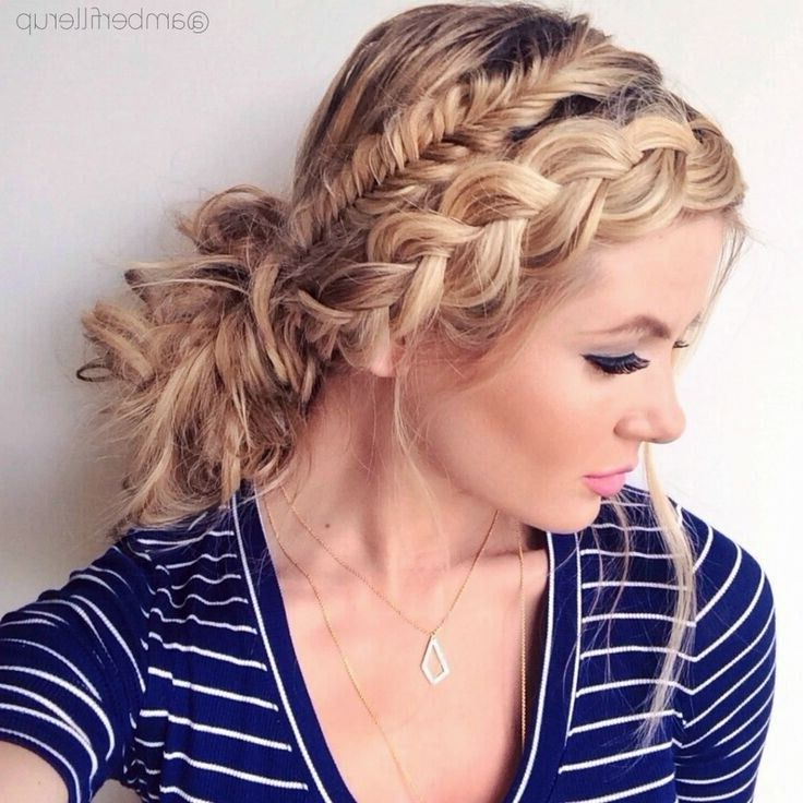 21 All New French Braid Updo Hairstyles – Popular Haircuts With Trendy Fishtail Updo Braid Hairstyles (View 17 of 20)