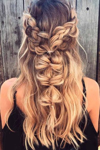 24 Boho Hairstyles You'll Want To Wear All Summer With Trendy Boho Braided Half Do Hairstyles (View 15 of 20)