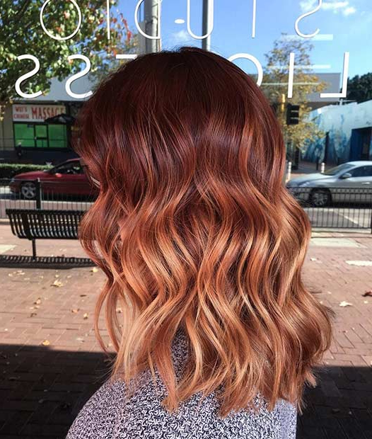 25 Copper Balayage Hair Ideas For Fall (View 8 of 20)