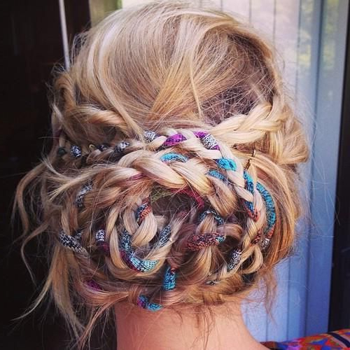 26 Boho Hairstyles With Braids – Bun Updos & Other Great Inside Best And Newest Boho Braided Half Do Hairstyles (View 17 of 20)