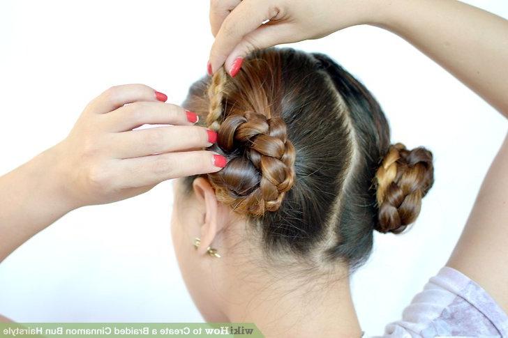3 Ways To Create A Braided Cinnamon Bun Hairstyle – Wikihow Inside 2020 Cinnamon Bun Braided Hairstyles (View 17 of 20)