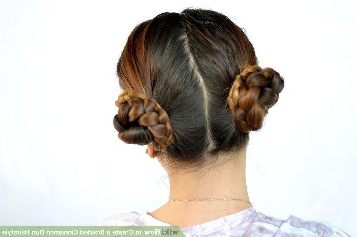 3 Ways To Create A Braided Cinnamon Bun Hairstyle – Wikihow Within Trendy Cinnamon Bun Braided Hairstyles (View 15 of 20)