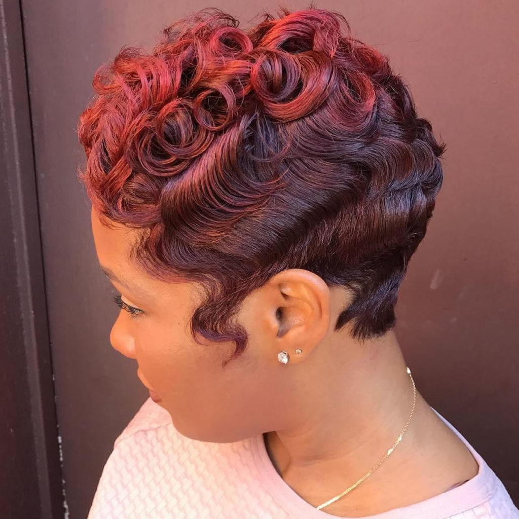 30 Finger Wave Short Hairstyles – Trendy Haircut Ideas For Intended For Most Popular Dark Red Highlighted Finger Coils Hairstyles (View 13 of 20)