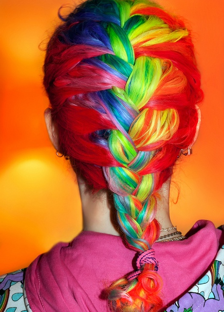 30 Rainbow Colored Hairstyles To Try – Pretty Designs In Most Recent Pastel Rainbow Colored Curls Hairstyles (View 4 of 20)