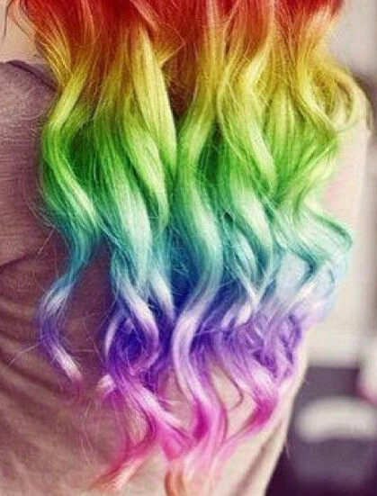 30 Rainbow Colored Hairstyles To Try – Pretty Designs Pertaining To Most Recently Released Pastel Rainbow Colored Curls Hairstyles (View 13 of 20)
