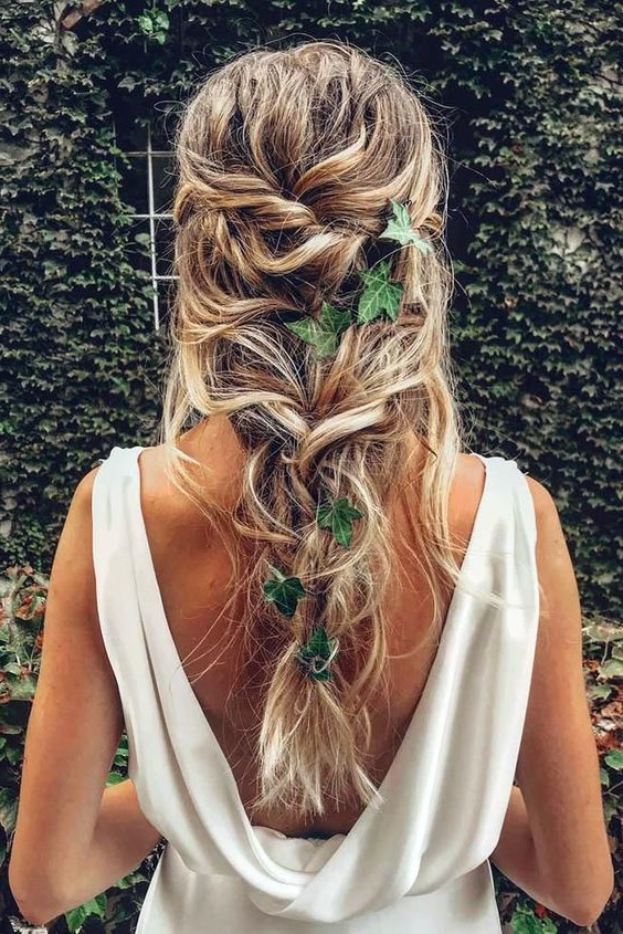 35 Braided Wedding Hairstyles Pertaining To Most Up To Date Loose Historical Braid Hairstyles (View 14 of 20)