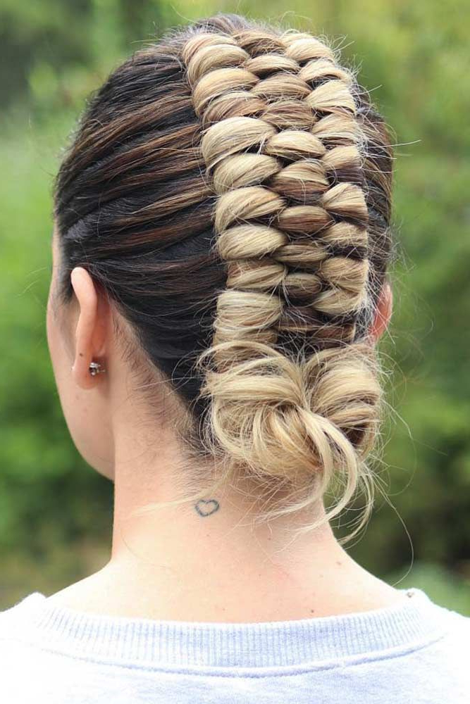35 Girly Braided Mohawk Ideas To Keep Up With Trends In Pertaining To Favorite Mohawk French Braid Hairstyles (View 3 of 20)