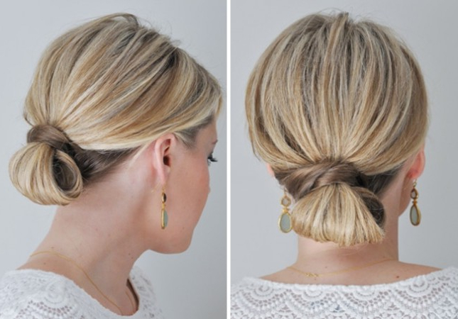 35 Modern Romantic Wedding Hairstyles For Short Hair Inside Latest Folded Braided Updo Hairstyles (View 15 of 20)