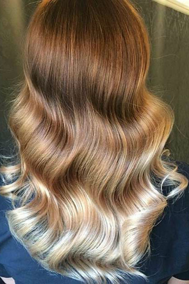 36 Blonde Balayage Hair Color Ideas With Caramel, Honey For Widely Used Curls Hairstyles With Honey Blonde Balayage (View 18 of 20)