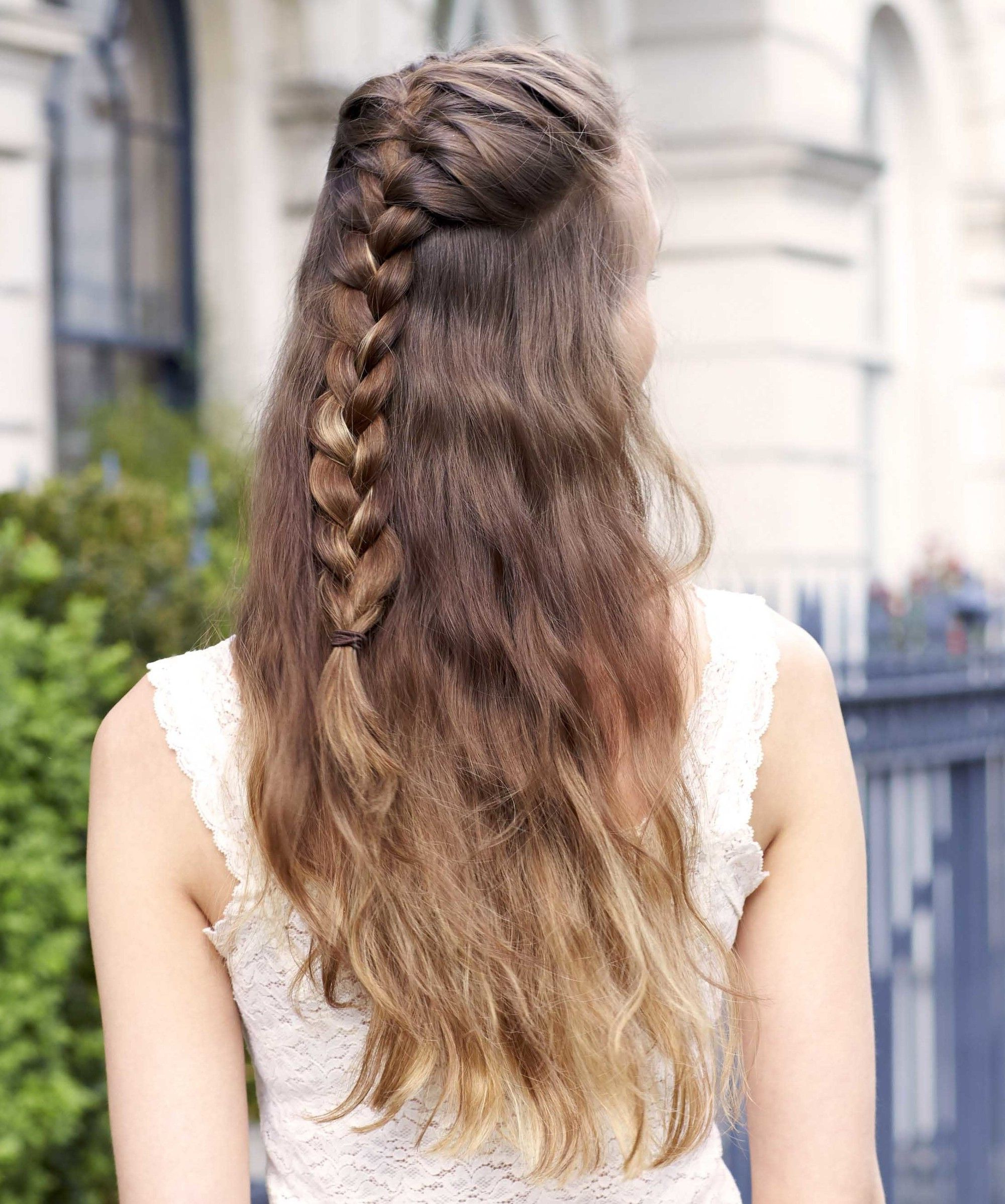 40+ Half Braided Hairstyles You Can Master In Minutes Throughout Well Known Rope Half Braid Hairstyles (View 11 of 20)