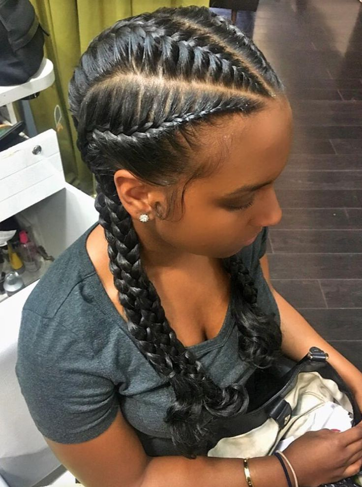 40+ Totally Gorgeous Ghana Braids Hairstyles – Page 2 Of 2 With Most Up To Date Chic Black Braided High Ponytail Hairstyles (View 10 of 20)