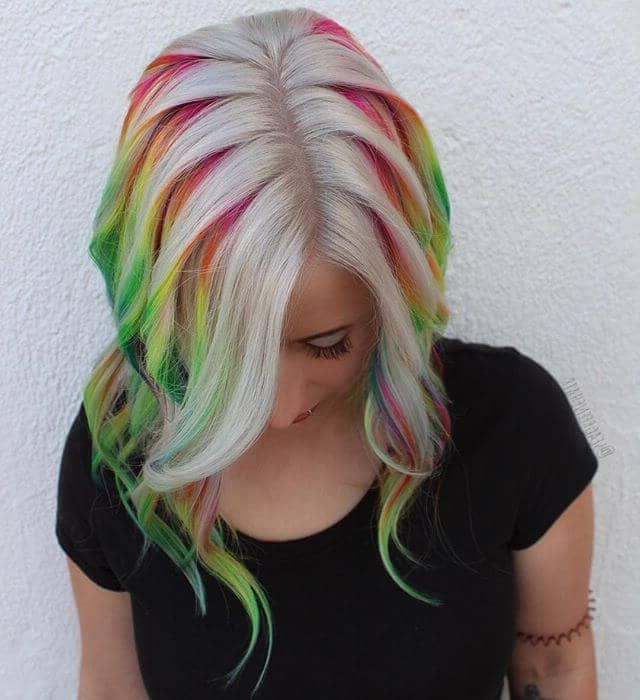 50 Stunning Rainbow Hair Color Styles Trending In 2020 Within Recent Pastel Rainbow Colored Curls Hairstyles (View 9 of 20)