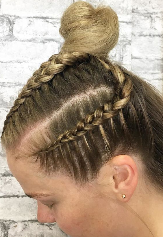 50 Top Knot Braided Bun For Brides 2017 2018 (with Images Inside Current Knotted Braided Updo Hairstyles (View 4 of 20)