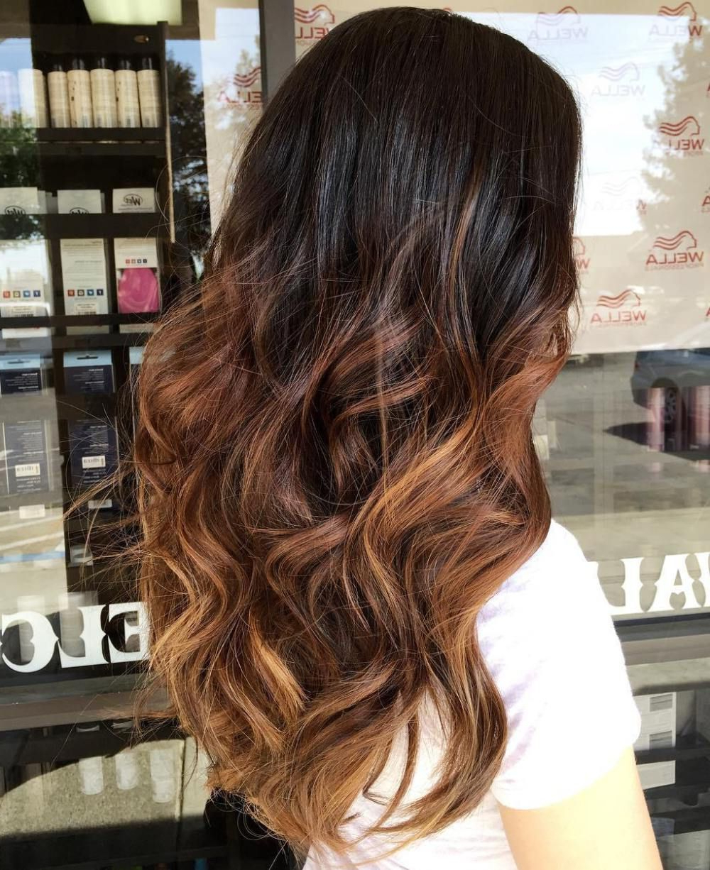 60 Chocolate Brown Hair Color Ideas For Brunettes For Trendy Deep Chocolate Curls Hairstyles With High Contrast Highlights (View 2 of 20)