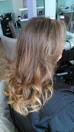 #balayage #blonde #golden #longhair #curls #olaplex # With Regard To Most Popular Golden Blonde Balayage On Long Curls Hairstyles (View 15 of 20)