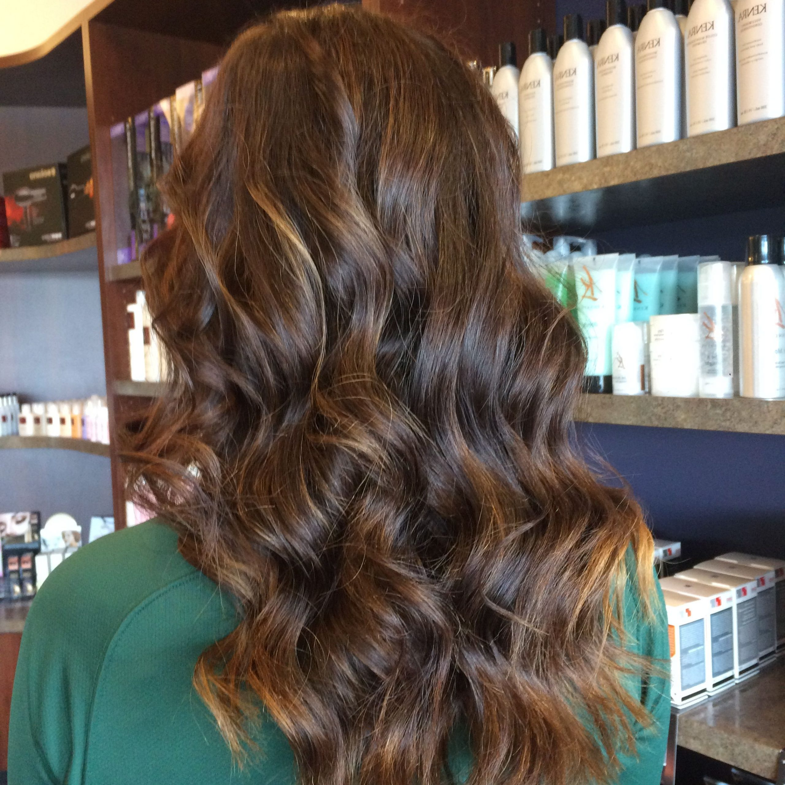 Balayage & Curls #kennethssalon #hairbyelle #balyage Intended For Favorite Golden Blonde Balayage On Long Curls Hairstyles (View 12 of 20)