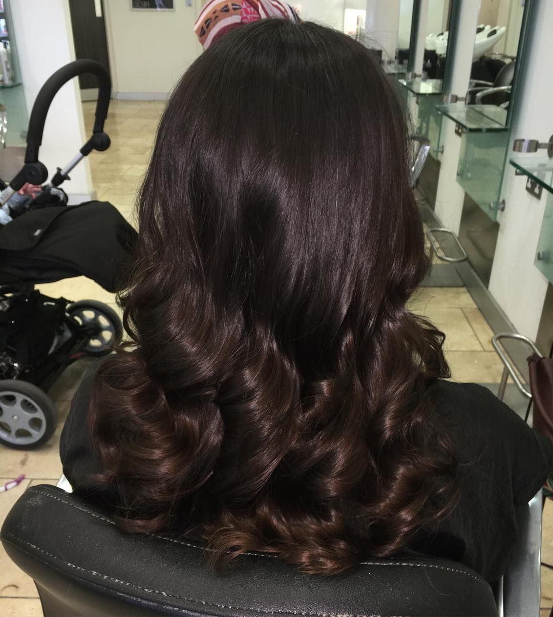 Best And Newest Deep Chocolate Curls Hairstyles With High Contrast Highlights Throughout 50 Delicious Chocolate Brown Hair Colors & Designs (View 8 of 20)
