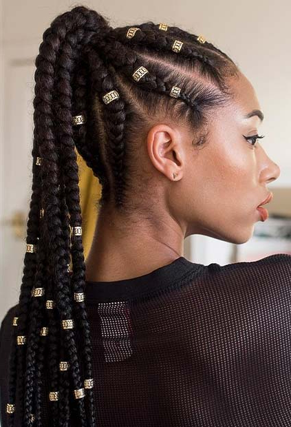 Best And Newest High Ponytail Braided Hairstyles With Top Braided Ponytail Hairstyles 2019 For Black Women (View 9 of 20)