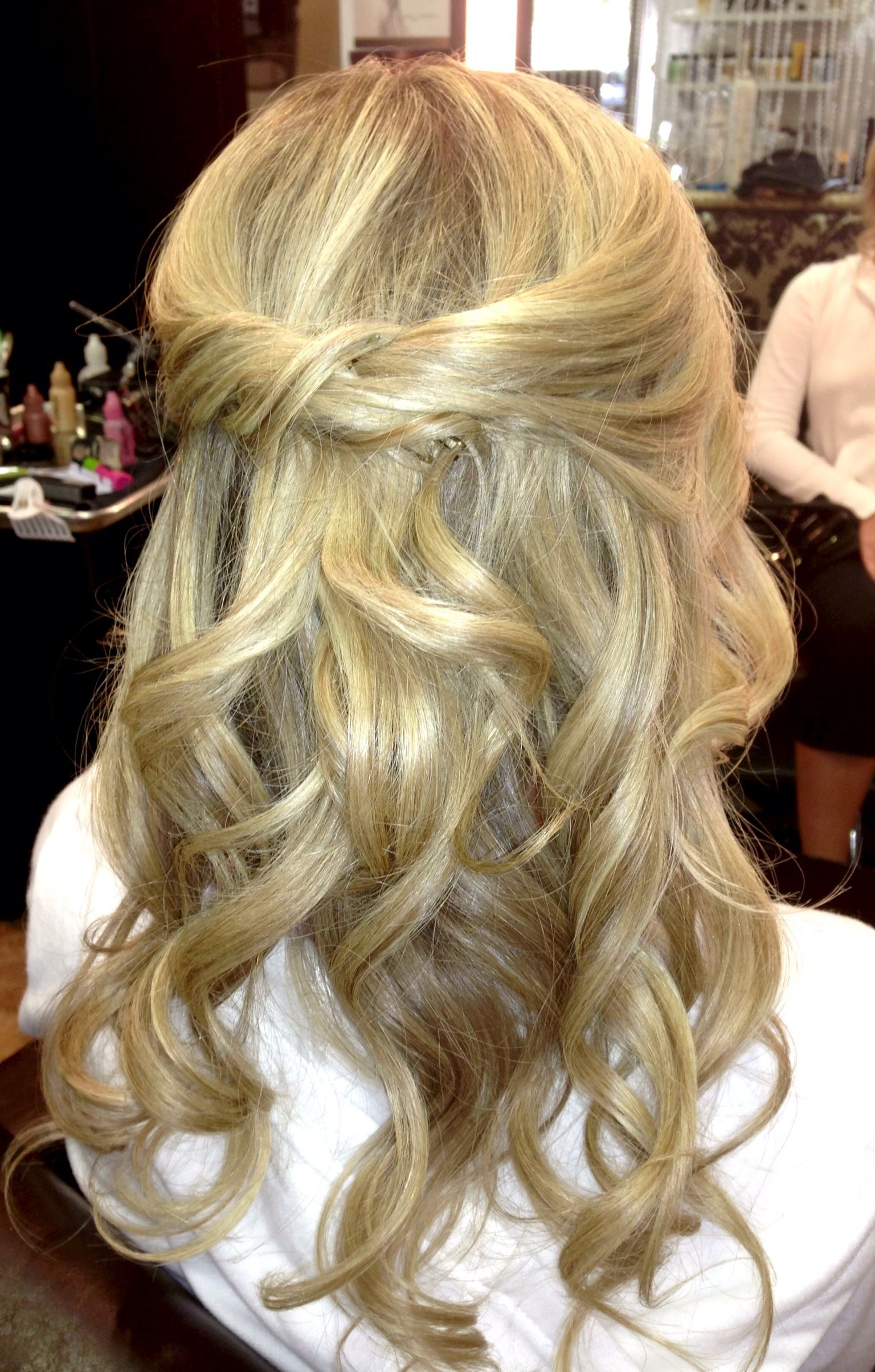 Best And Newest Loose Highlighted Half Do Hairstyles Intended For Half Up Half Down Loose Curls Hairstyling For This (View 2 of 20)