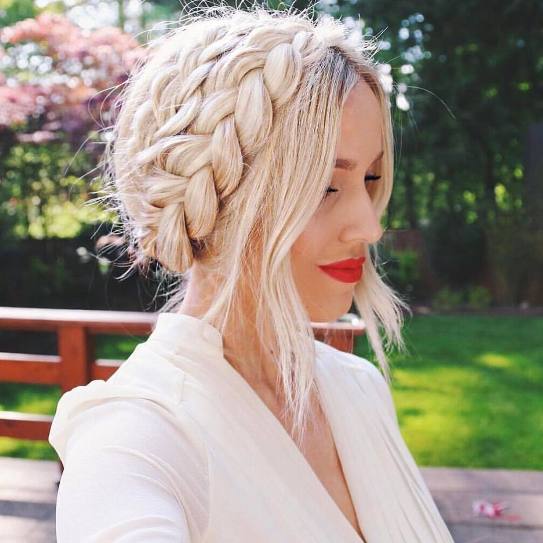 Best Bridal Hair Ideas In Well Liked Bridal Crown Braid Hairstyles (View 8 of 20)